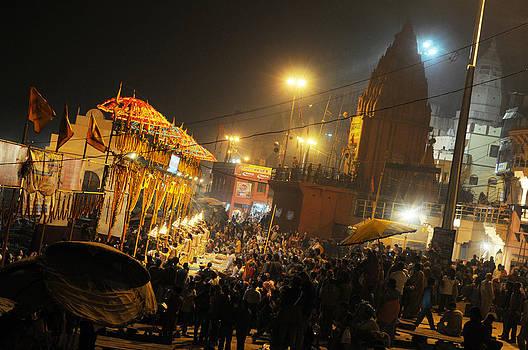 Varanasi Ghat by Money Sharma
