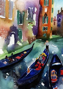 Venice Gondolas by Lydia Irving