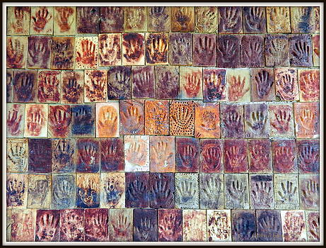 Wall of Hands 2 by Kathy Barney