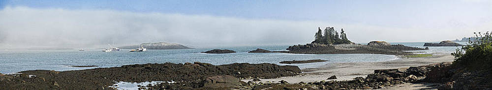 Wallace Cove Fog Rolling In Panorama by Marty Saccone