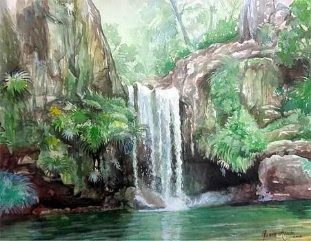 Waterfall  by Gourav Sheode