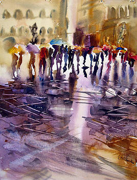 wet Street by Shirley Roma Charlton
