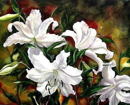Alfred Ng - white lilies