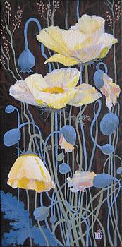 White Poppies by Marina Gnetetsky