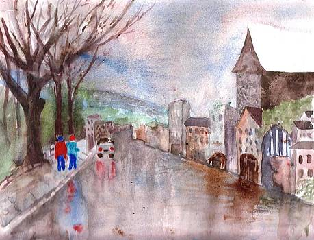Winter rain by Sandi Stonebraker