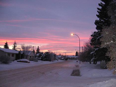 Winter Sunset by Gordon Wunsch