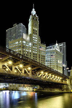 Sebastian Musial - Wrigley Building At Night