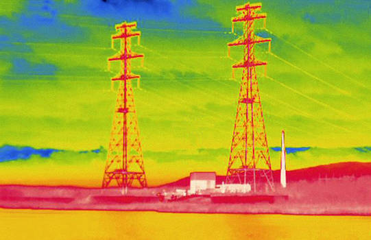 Yankee Nuclear Power Plant, Thermogram by Science Stock Photography