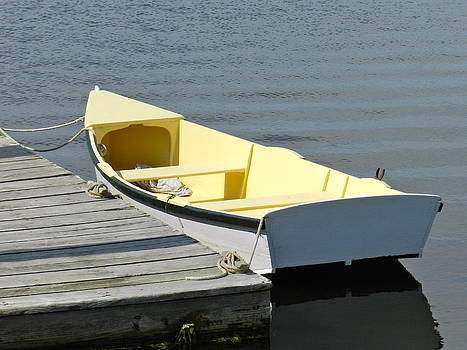 Yellow Boat by Genoa Larcher