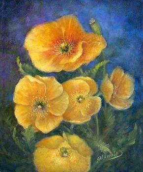 Yellow Poppies by Sharen AK Harris