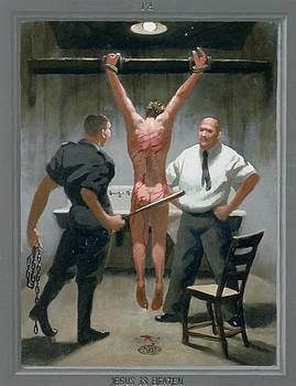 12. Jesus Is Beaten / from The Passion of Christ - A Gay Vision by Douglas Blanchard
