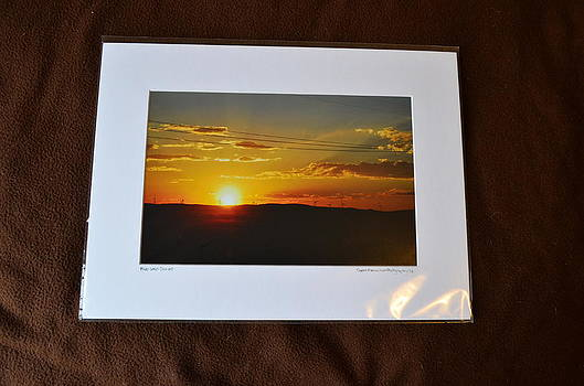 12x16 Matted - Mid-West Sunset by Becky Anders