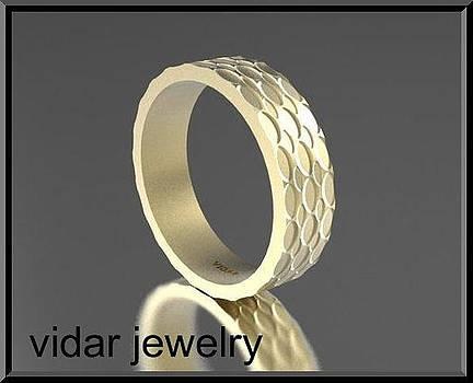 14k Yellow Gold Unisex Wedding Ring  by Roi Avidar
