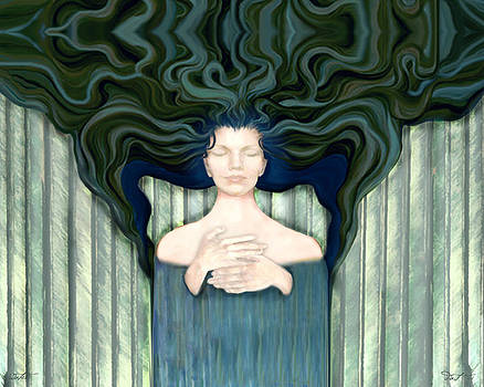 16x20 Water Angel by Dia T