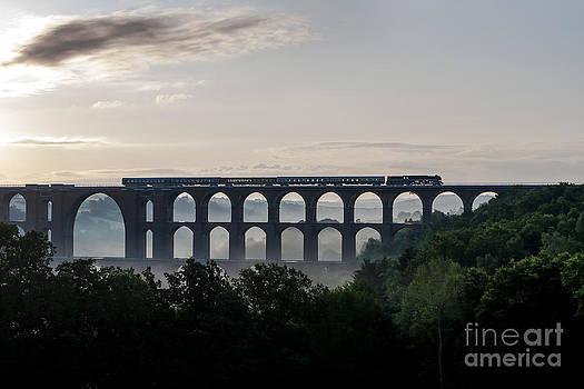 18 201 on the Goeltzsch Viaduct by Christian Spiller