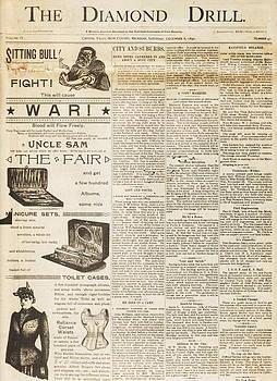 1890 Diamond Drill Newspaper  by Alan Kurtz