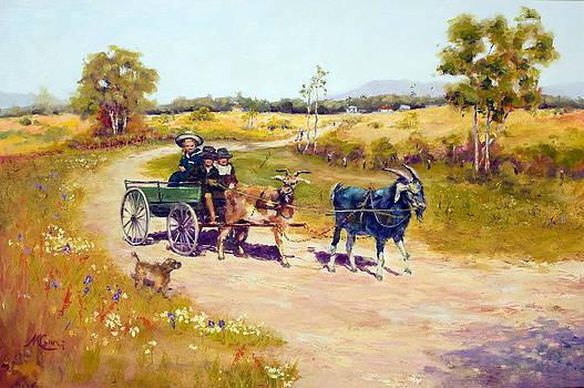 Marie Green - 1895- Nubian Goats