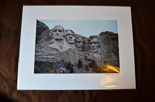 18x24 Matted - Mt Rushmore by Becky Anders
