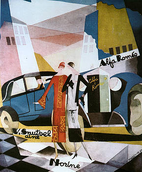 1920s Belgium Alfa Romeo Poster by The Advertising Archives