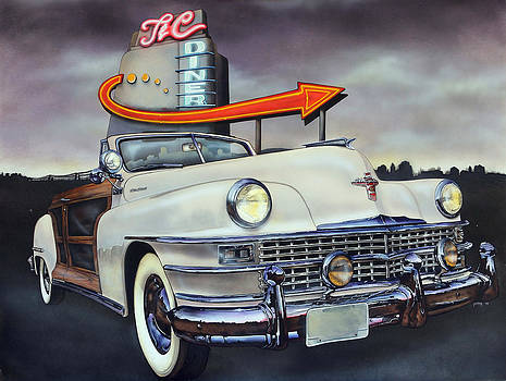 1949 Chrysler Town and Country Convertible by Bill Yurcich