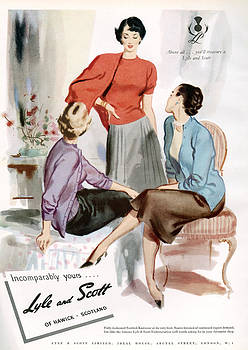 1950s Uk Lyle And Scott Magazine Advert by The Advertising Archives