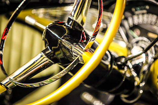 1956 Chevy Bel Air Steering Wheel  by Shanna Gillette