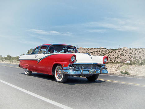 Mary Lee Dereske - 1956 Ford Crown Victoria Cruising the New Mexico Desert