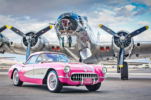 Jill Reger - 1957 Chevrolet Corvette B-17 Bomber -0168p