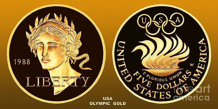 1988 USA Olympic Gold by Jim Carrell