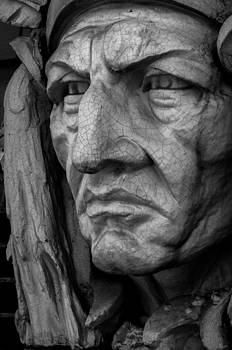 Native American Stone Carving by Glenn McGloughlin