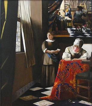 A Tribute to Vermeer by Alan Berkman