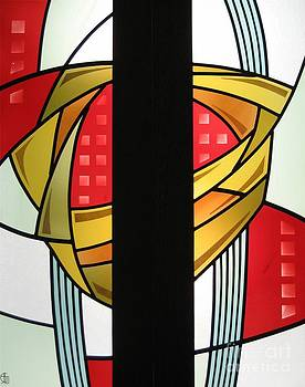 Arts and Crafts Abstract by Gilroy Stained Glass