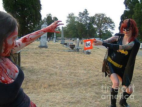 Batgirl versus Zombie by Joshua Brown