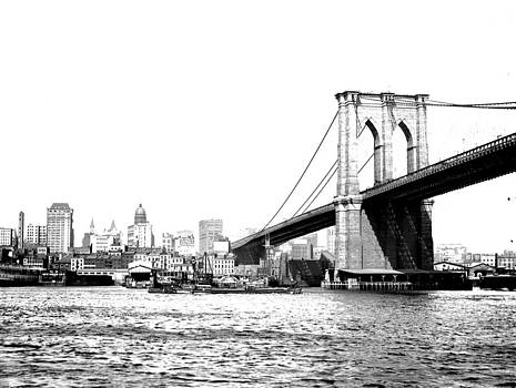 Black and White Abstract City Photography...Brooklyn Bridge by Amy Giacomelli