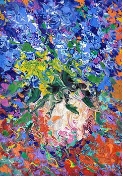 Blue flowers by Dmitry Spiros