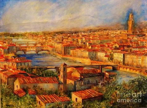 Bridges Of Florence by Dagmar Helbig