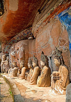 Fototrav Print - Buddhist statue at Dazu Stone carvings