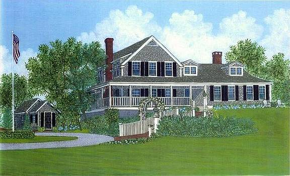 Cape Cod House Portrait by David Hinchen