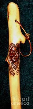 Gail Matthews - Carved Wooden Walking Stick