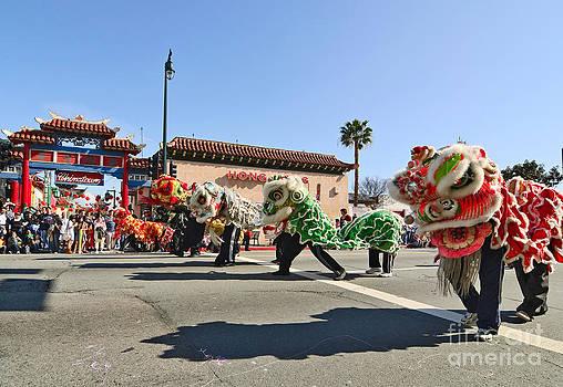 Jamie Pham - Chinese New Year parade in Chinatown of Los Angeles California.
