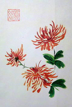 Chrysanthemums by Margaret Welsh Willowsilk