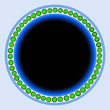 Circle Motif 140 by John F Metcalf
