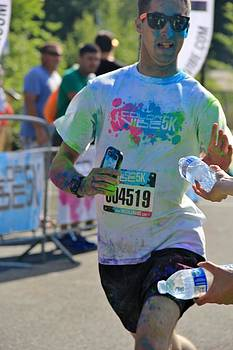 Color Vibe 5K run event  by Ronald Hanson