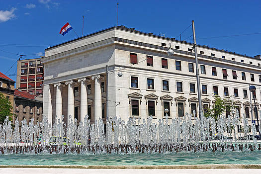 Croatian national bank Zagreb by Borislav Marinic