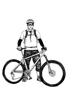 Cyclist by Karl Addison