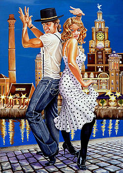 Dancin' at the Dock by Debbie  Diamond