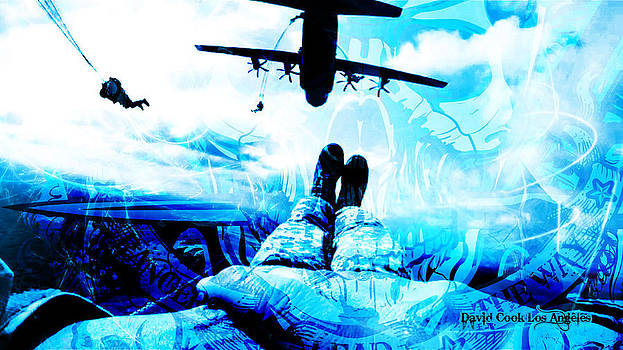 DCLA Designed Skull 82nd Airbornescape by David Cook  Los Angeles Prints