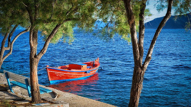 Fishing boat by Dobromir Dobrinov