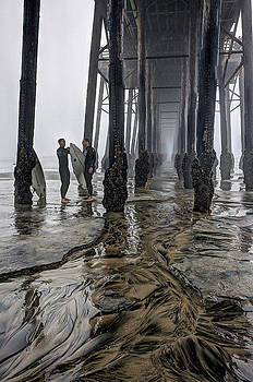 Fog at The Pier by Ann Patterson