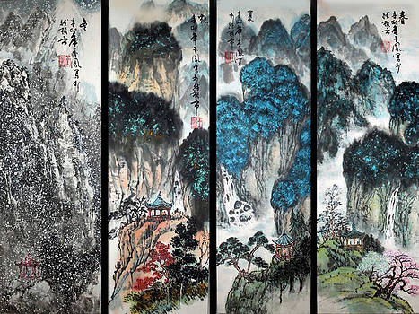 Four Seasons in Harmony by Yufeng Wang